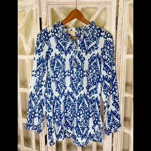 Rungolee paisley print small blouse blue